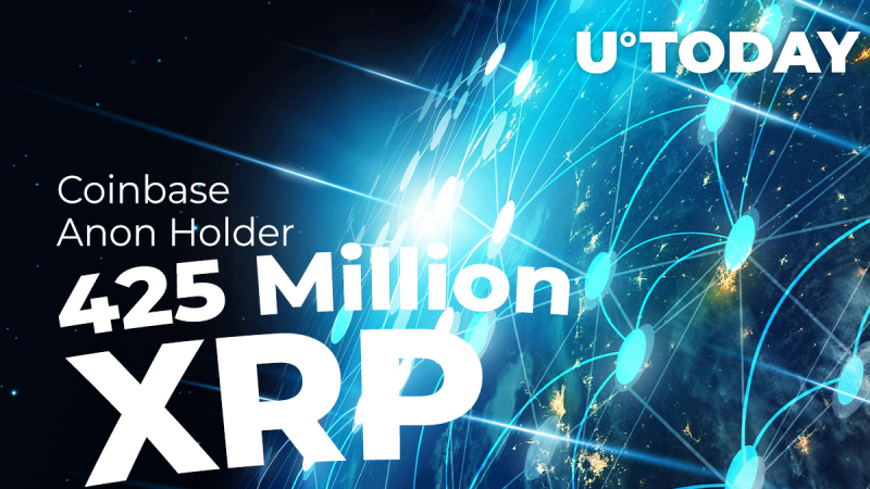425 Million XRP Moved by Coinbase and Anon Holder While XRP Pushed Back to Top 6 Spot