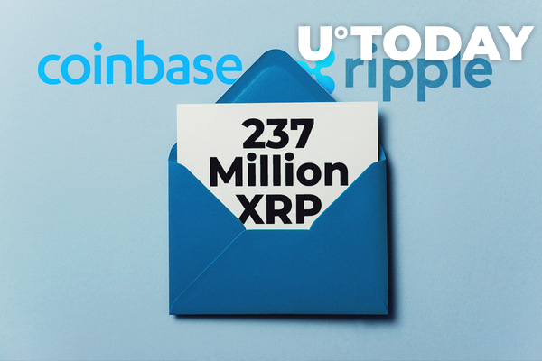 Ripple Giant and Coinbase Shift Staggering 237 Million XRP