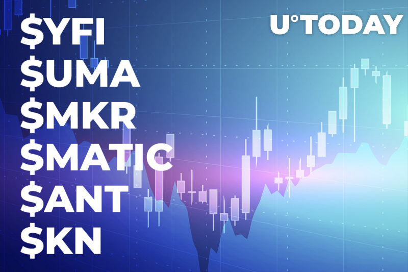 $YFI, $UMA, $MKR, $MATIC, $ANT and $KNC Show Growth Despite Bitcoin Price Fluctuations - Santiment