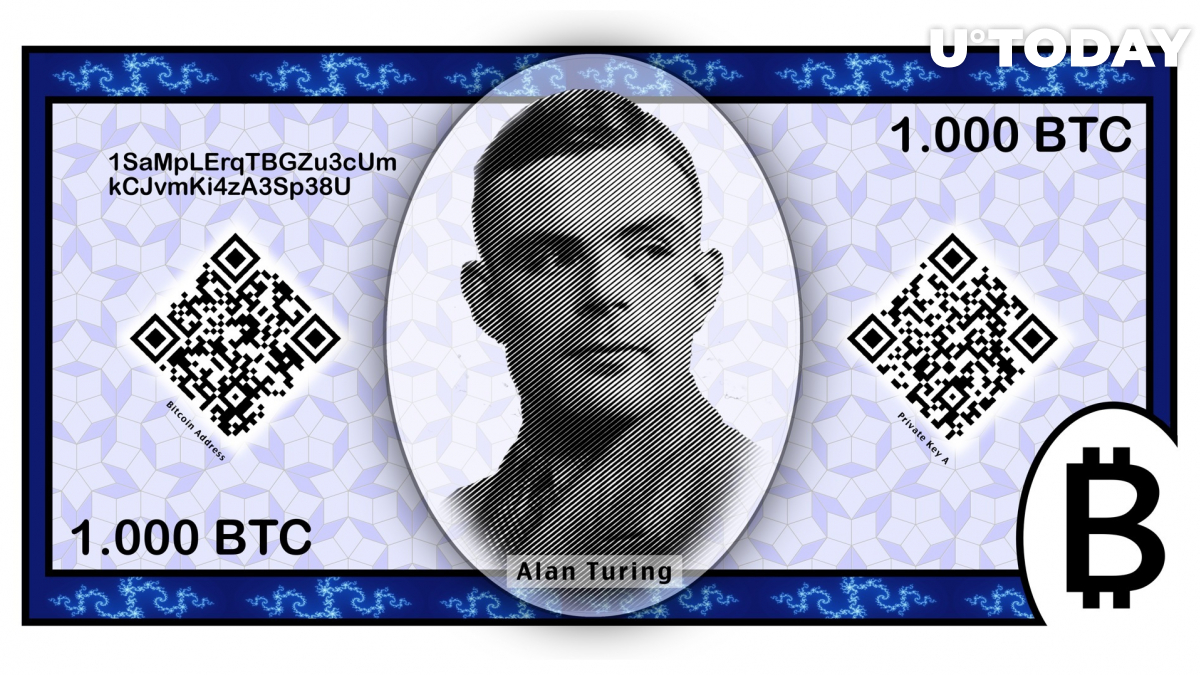 What would a Bitcoin paper note look like? Here's one version created by an Internet user