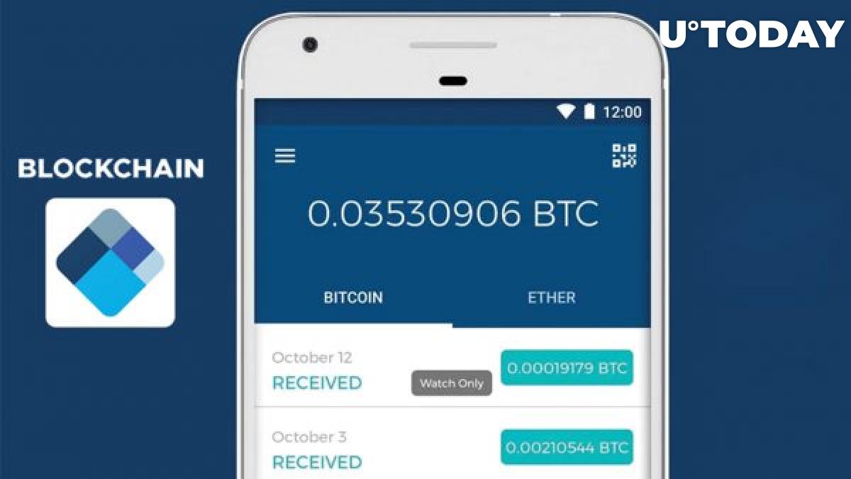 Blockchain mobile wallet interface