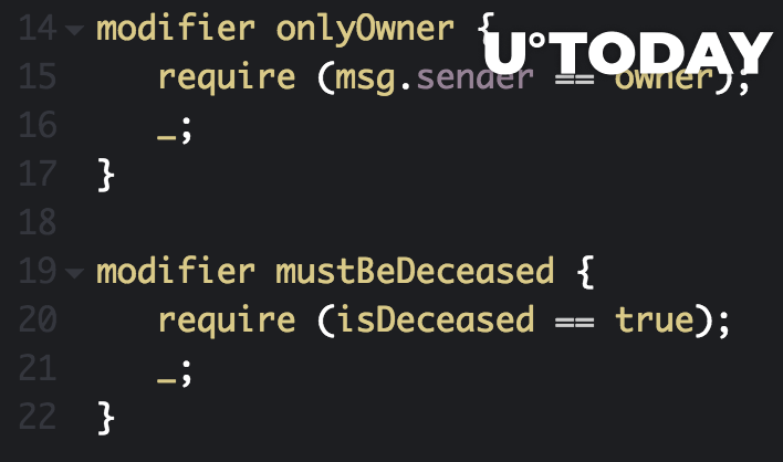 Solidity modifiers