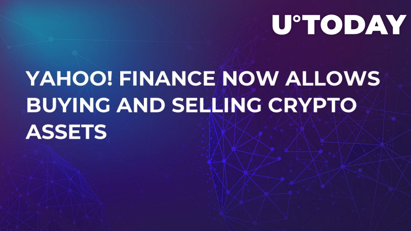 Yahoo! Finance Now Allows Buying and Selling Crypto Assets