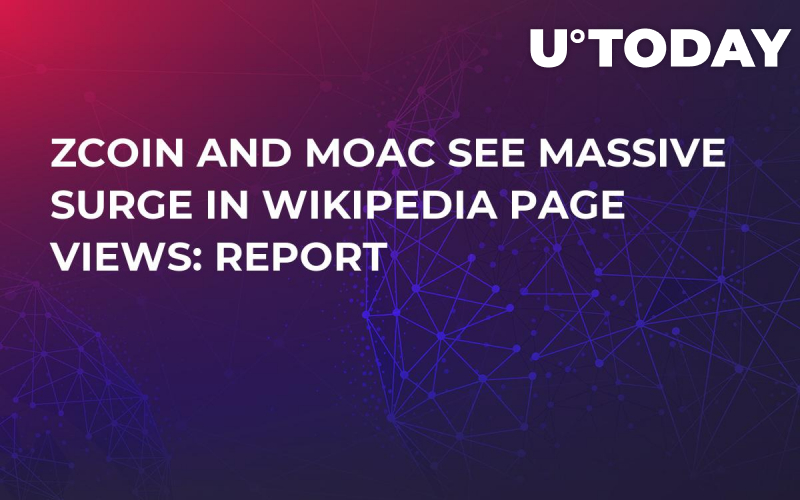 ZCoin and MOAC See Massive Surge in Wikipedia Page Views: Report