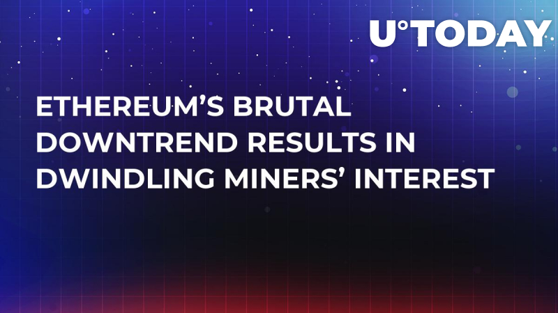 Ethereum's Brutal Downtrend Results in Dwindling Miners' Interest