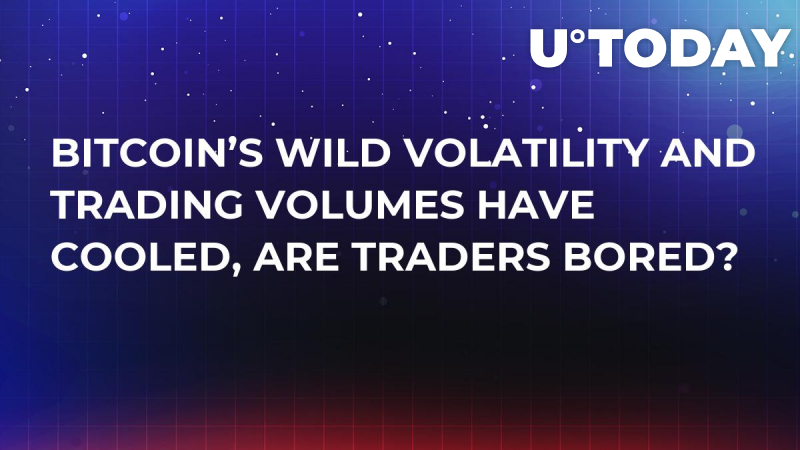 Bitcoin's Wild Volatility and Trading Volumes Have Cooled, Are Traders Bored?