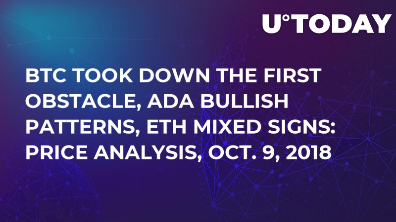 BTC Took Down The First Obstacle, ADA Bullish Patterns, ETH Mixed Signs: Price Analysis, Oct. 9, 2018