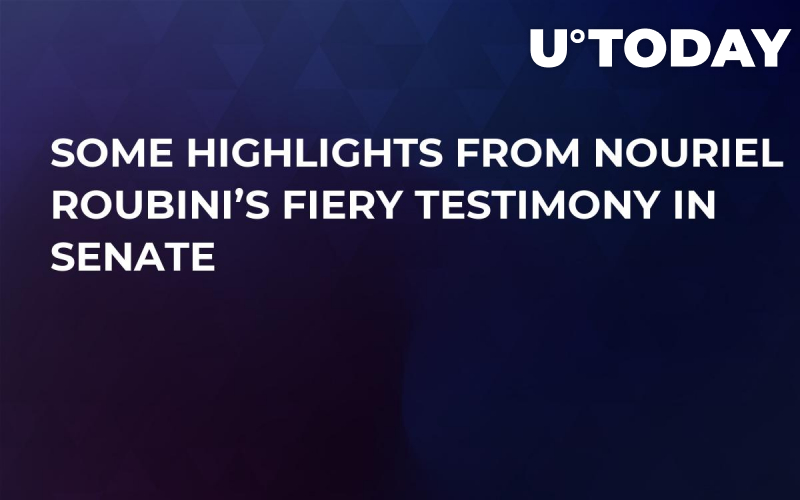 Some Highlights From Nouriel Roubini's Fiery Testimony In Senate