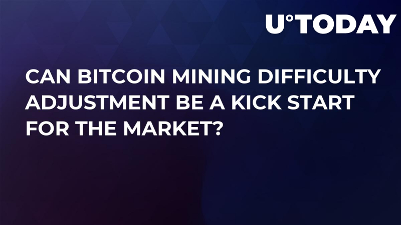Can Bitcoin Mining Difficulty Adjustment Be a Kick Start for the Market?