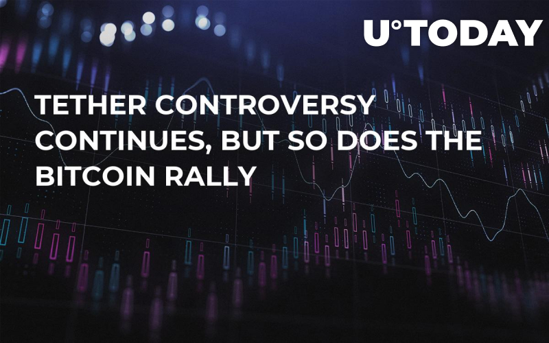 Tether Controversy Continues, But So Does the Bitcoin Rally