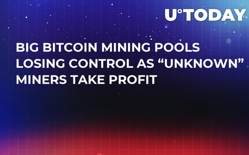 "Big Bitcoin Mining Pools Losing Control as ""Unknown"" Miners Take Profit"