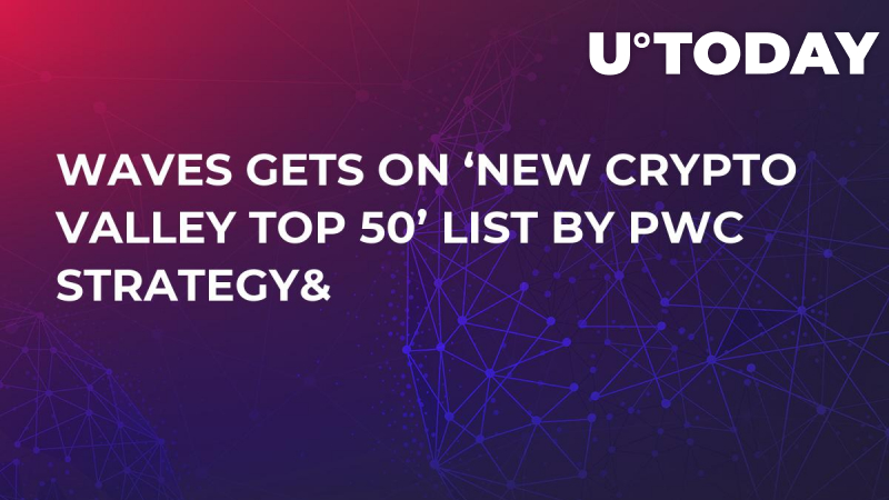 Waves Gets on 'New Crypto Valley Top 50' List by PwC Strategy&