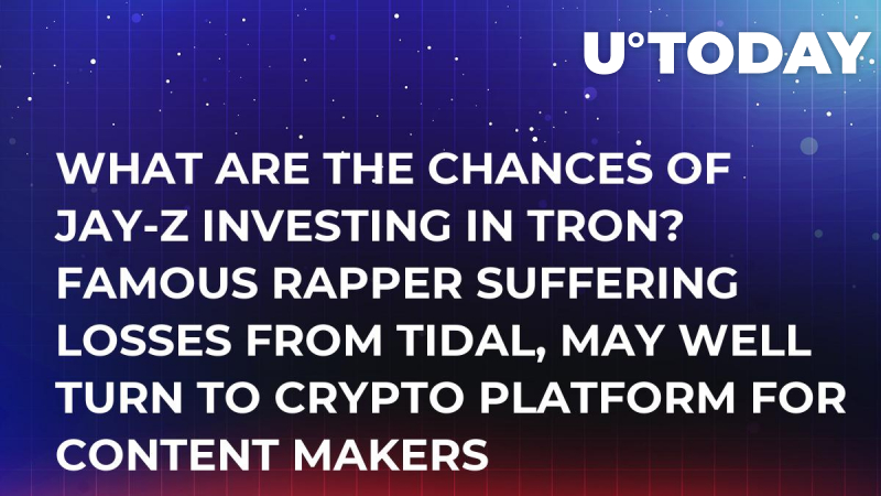 What Are the Chances of Jay-Z Investing in Tron? Famous Rapper Suffering Losses from Tidal, May Well Turn to Crypto Platform for Content Makers