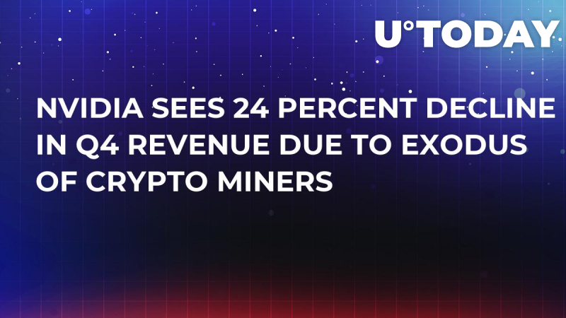 Nvidia Sees 24 Percent Decline in Q4 Revenue Due to Exodus of Crypto Miners