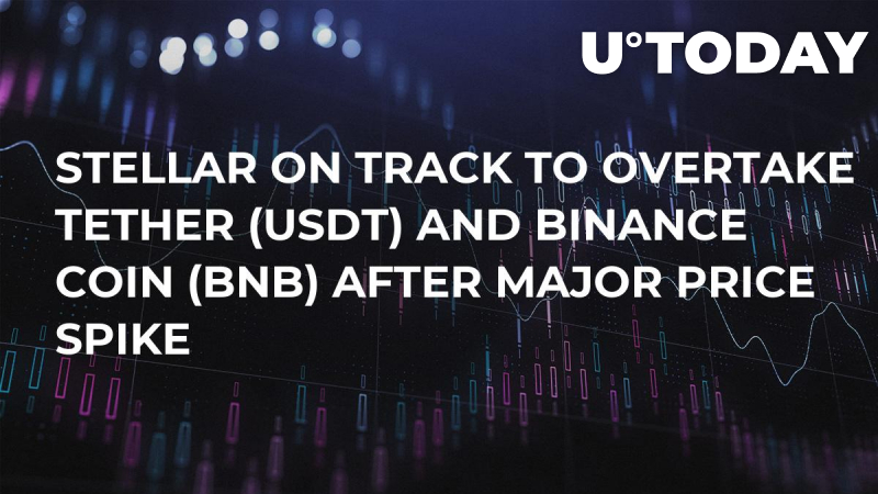 Stellar on Track to Overtake Tether (USDT) and Binance Coin (BNB) After Major Price Spike