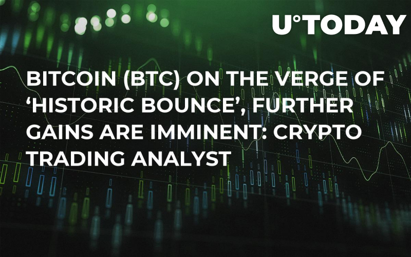 Bitcoin (BTC) on the Verge of 'Historic Bounce', Further Gains Are Imminent: Crypto Trading Analyst