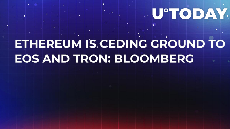 Ethereum Is Ceding Ground to EOS and Tron: Bloomberg
