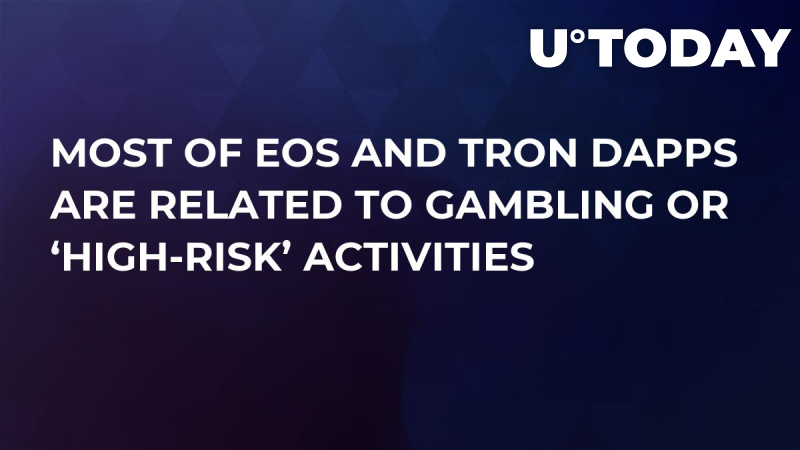 Most of EOS and Tron dApps Are Related to Gambling or 'High-Risk' Activities