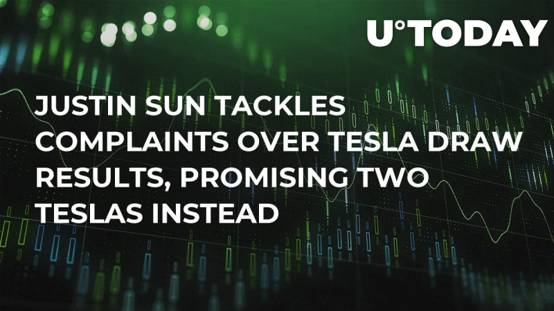 Justin Sun Tackles Complaints over Tesla Draw Results, Promising Two Teslas Instead