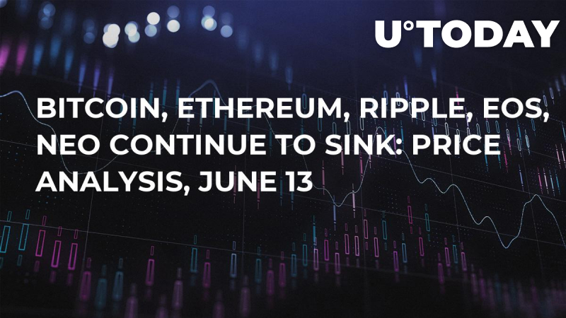 Bitcoin, Ethereum, Ripple, EOS, NEO Continue to Sink: Price Analysis, June 13