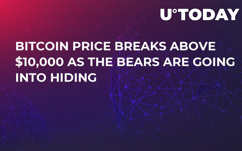 Bitcoin Price Breaks Above $10,000 as the Bears Are Going Into Hiding
