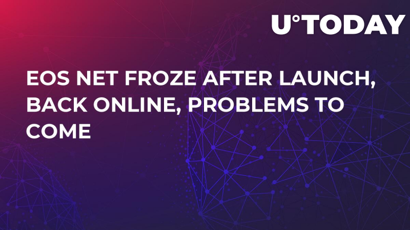 EOS Net Froze after Launch, Back Online, Problems to Come