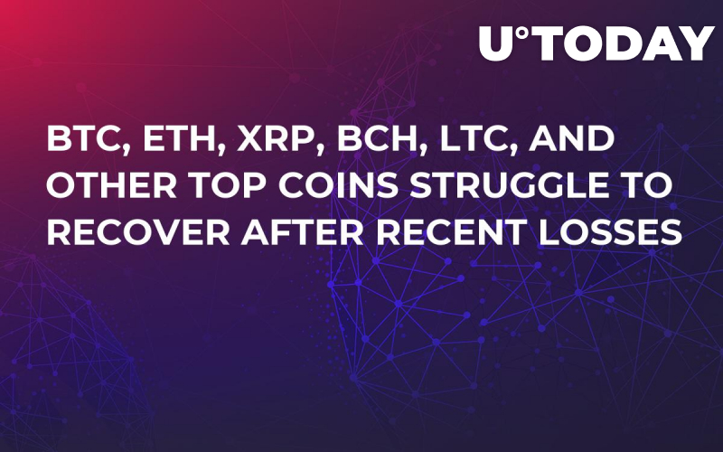 BTC, ETH, XRP, BCH, LTC, and Other Top Coins Struggle to Recover After Recent Losses