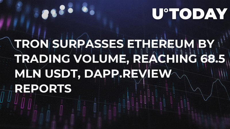 TRON Surpasses Ethereum by Trading Volume, Reaching 68.5 Mln USDT, Dapp.Review Reports