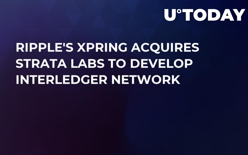 Ripple's Xpring Acquires Strata Labs to Develop Interledger Network