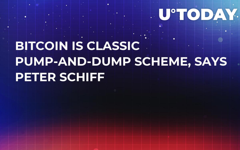 Bitcoin Is Classic Pump-and-Dump Scheme, Says Peter Schiff