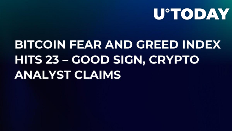 Bitcoin Fear and Greed Index Hits 23 – Good Sign, Crypto Analyst Claims