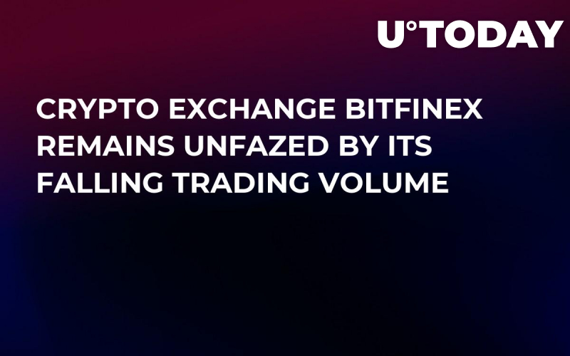 Crypto Exchange Bitfinex Remains Unfazed by Its Falling Trading Volume