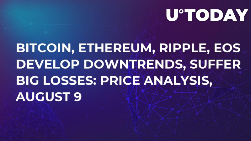 Bitcoin, Ethereum, Ripple, EOS Develop Downtrends, Suffer Big Losses: Price Analysis, August 9