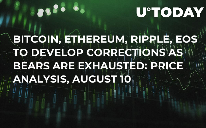 Bitcoin, Ethereum, Ripple, EOS to Develop Corrections as Bears Are Exhausted: Price Analysis, August 10