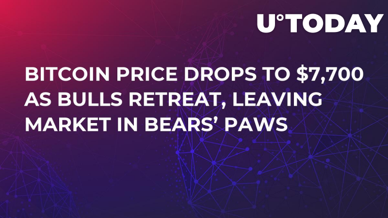Bitcoin Price Drops to $7,700 as Bulls Retreat, Leaving Market in Bears' Paws