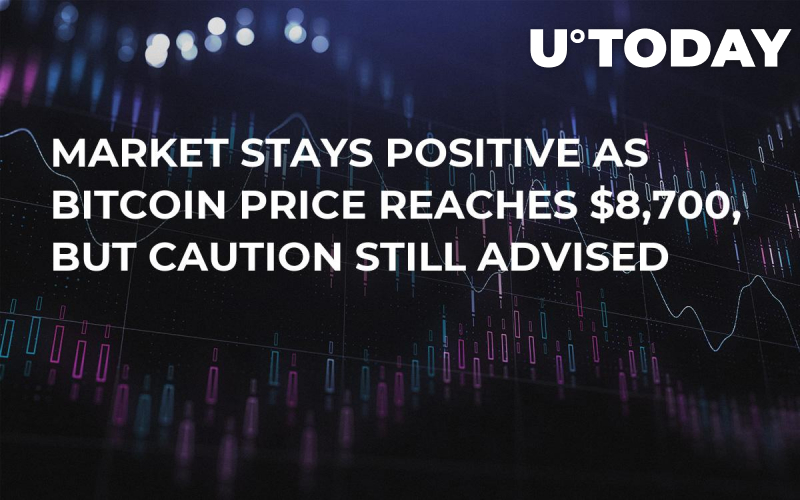 Market Stays Positive as Bitcoin Price Reaches $8,700, but Caution Still Advised