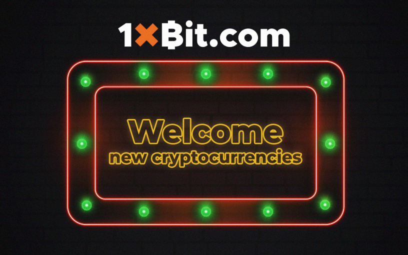 1xBit Keeps Welcoming New Cryptocurrencies