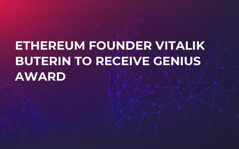 Ethereum Founder Vitalik Buterin To Receive Genius Award