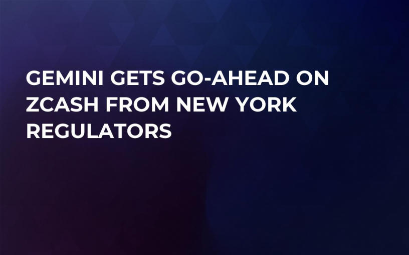 Gemini Gets Go-Ahead On Zcash From New York Regulators