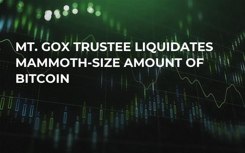 Mt. Gox Trustee Liquidates Mammoth-Size Amount of Bitcoin