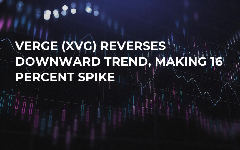 Verge (XVG) Reverses Downward Trend, Making 16 Percent Spike