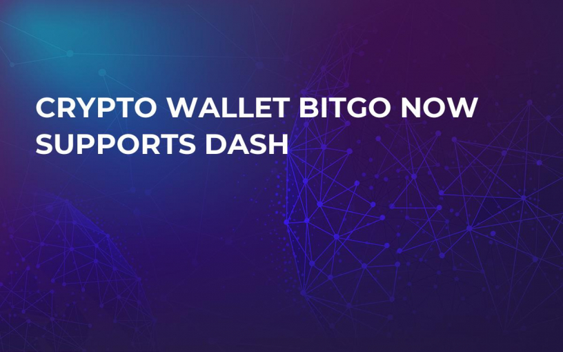 Crypto Wallet BitGo Now Supports Dash