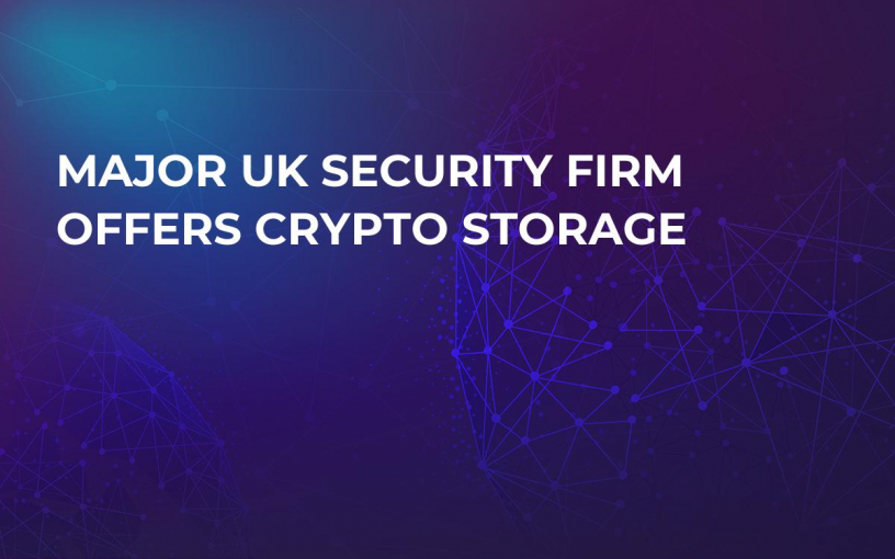 Major UK Security Firm Offers Crypto Storage