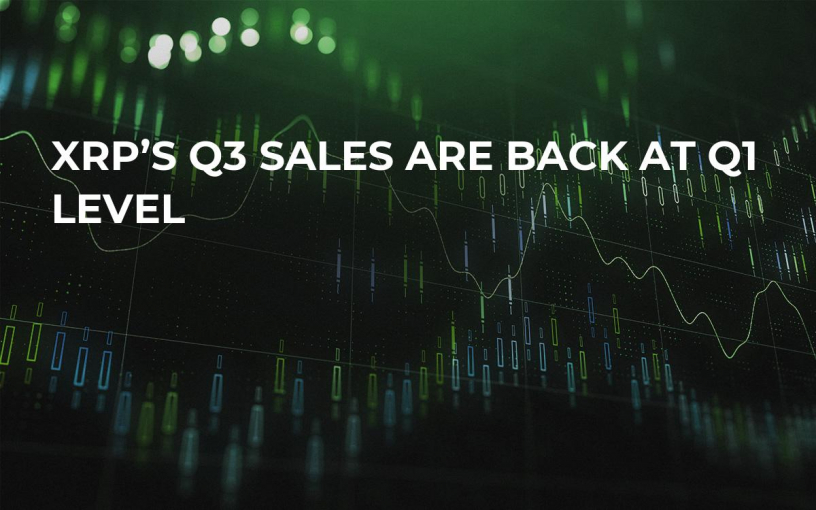 XRP's Q3 Sales Are Back at Q1 Level