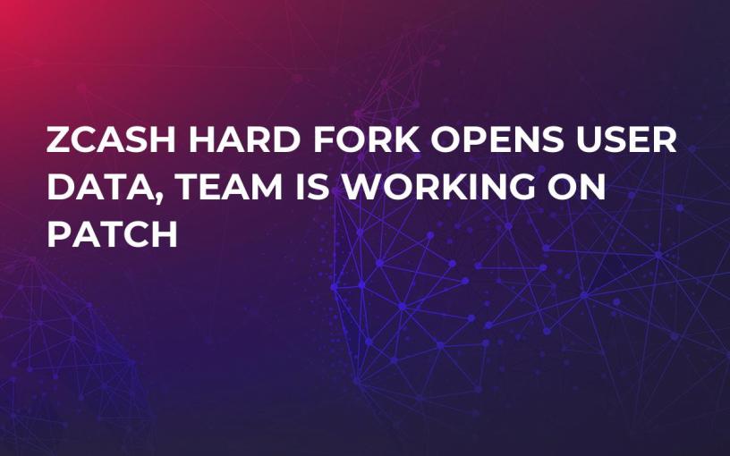 Zcash Hard Fork Opens User Data, Team Is Working on Patch