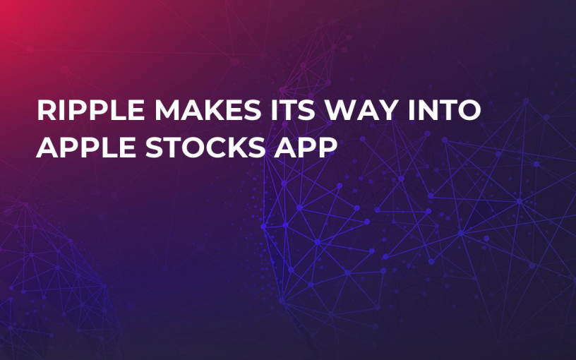 Ripple Makes its Way Into Apple Stocks App