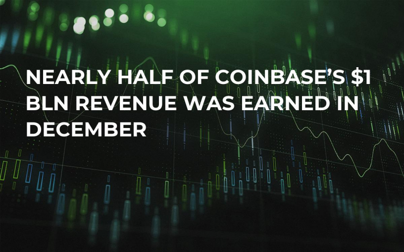 Nearly Half of Coinbase's $1 Bln Revenue Was Earned in December