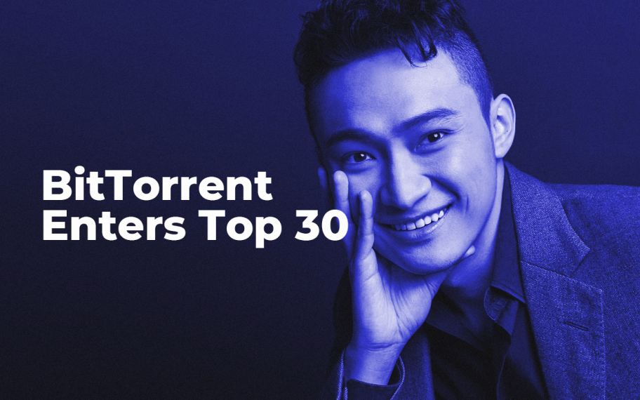 Tron Founder Justin Sun Delivers on His Promise: BitTorrent (BTT) Enters Top 30