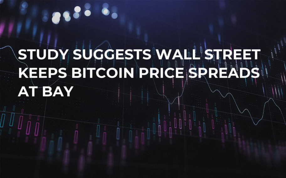 Study Suggests Wall Street Keeps Bitcoin Price Spreads at Bay