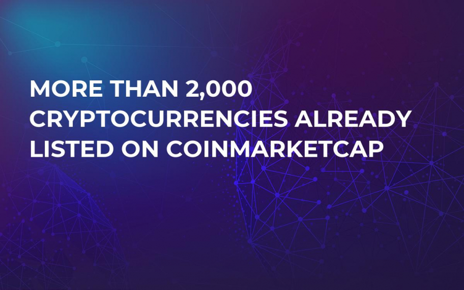 More Than 2,000 Cryptocurrencies Already Listed on CoinMarketCap